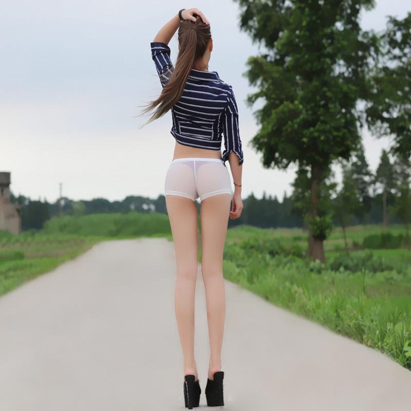 Ejqyhqr Super Sexy Semi See Through Shorts Women Summer Elastic Strecthy Slim Fit Transparent Hot Short Nightclub Party Wear