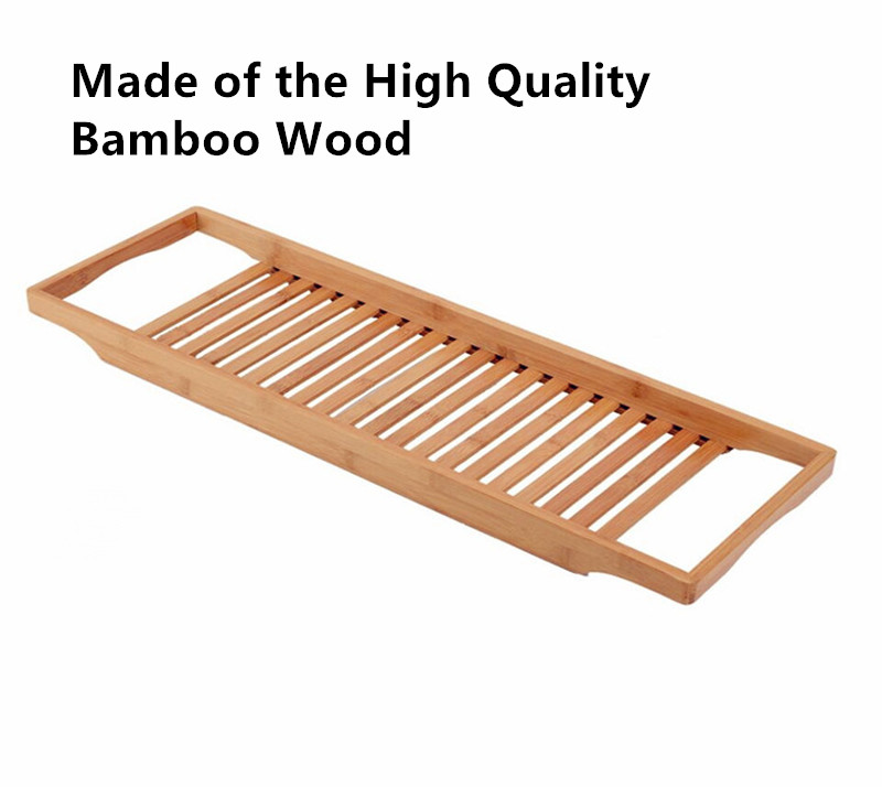 New Design Bathroom Organization Luxury Durable Bamboo Bathtub Caddy ...