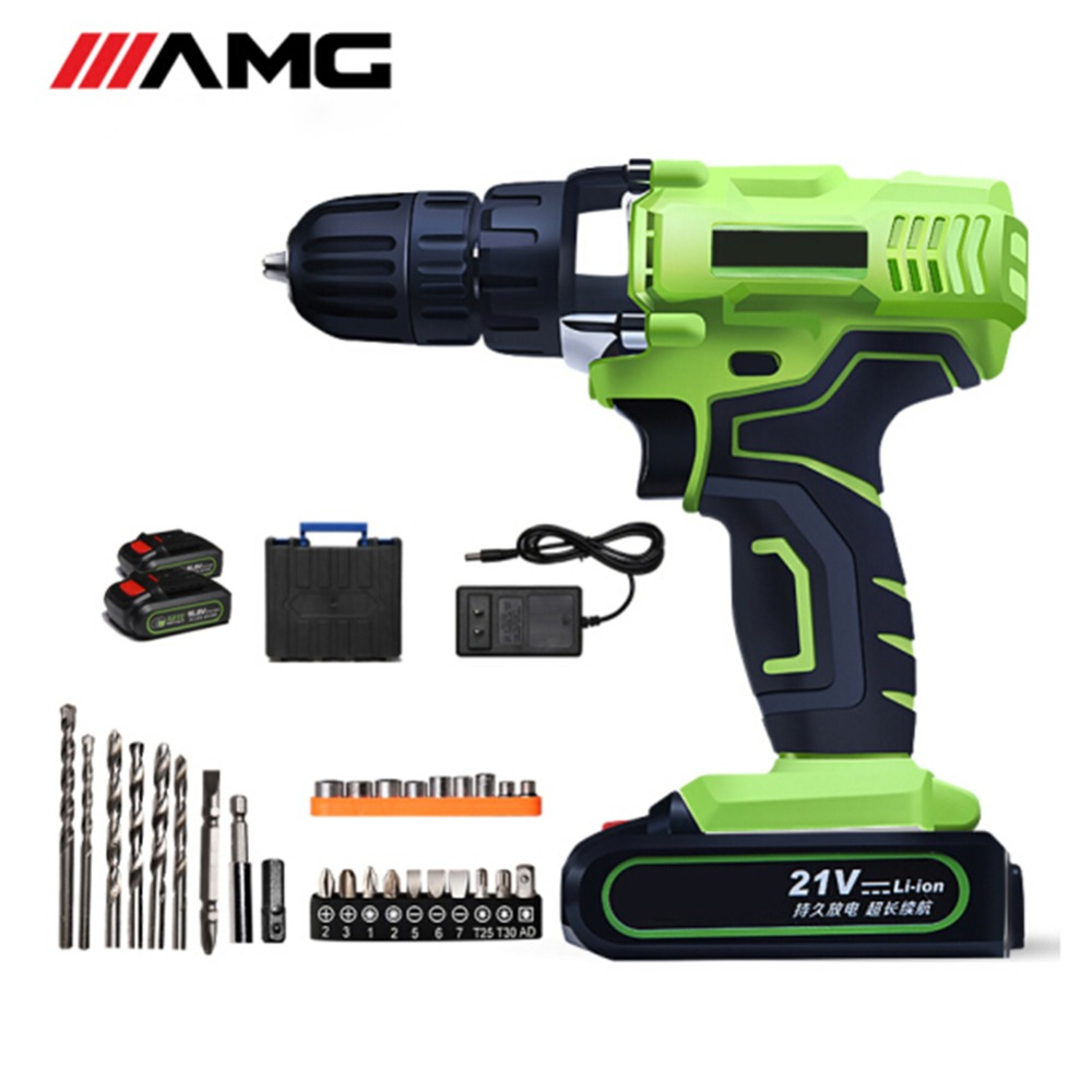 где купить OUMECROWN Double Speed Cordless Drill 21V Handheld Cordless Screwdriver Electric Mini Drill Micro Drill Home Tools по лучшей цене