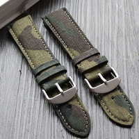 The New! for Armani Army green camouflage canvas strap 22mm nylon strap military table strap personalized camouflage