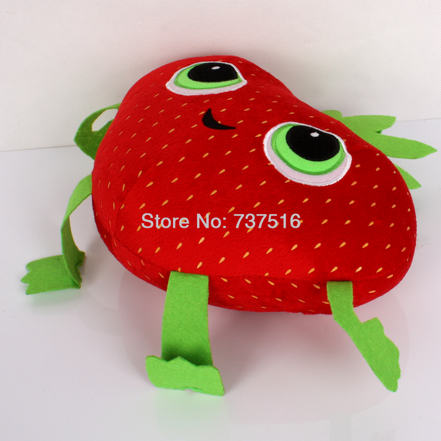 """New Arrival Cloudy With A Chance Of Meatballs 2 Cute Barry Strawberry Stuffed Plush Toys 10"""" Stuffed & Plush Plants"""