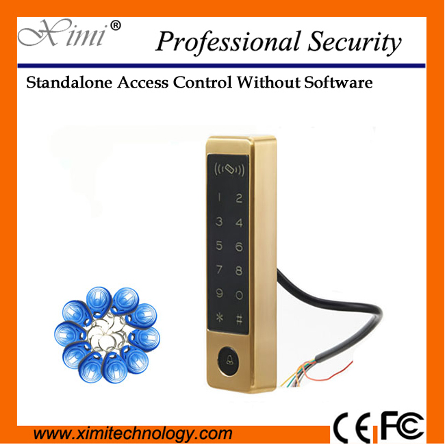Cheap No Software 125Khz Rfid Card Reader M12-C Touch Keypad Wiegand Reader Access Control System