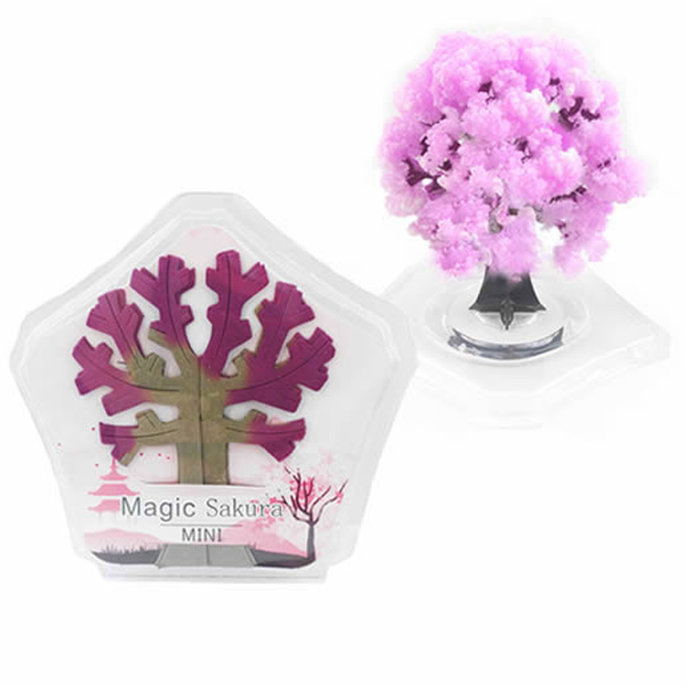 2019 90mm H Pink Magic Growing Paper Sakura Tree Magical Christmas Trees Desktop Cherry Blossom Science Funny Toys For Children