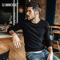 SIMWOOD 2018 autumn Winter New Sweater Men Slim Fit Knitted Pullover Men Fashion Plus Size High Quality Brand Sweater MT017037