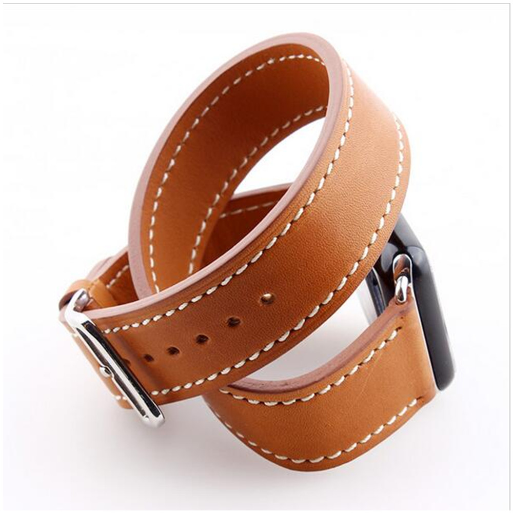 leather strap watch band for hermes appel watch Double Tour bracelet 42mm  38mm Genuine leather watchband 0f23812f9c7