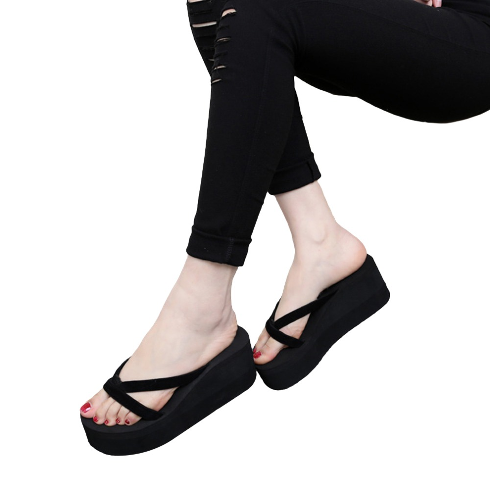 Casual Sandals Shoes Wedges Flip-Flops Female Fashion Summer New Slip
