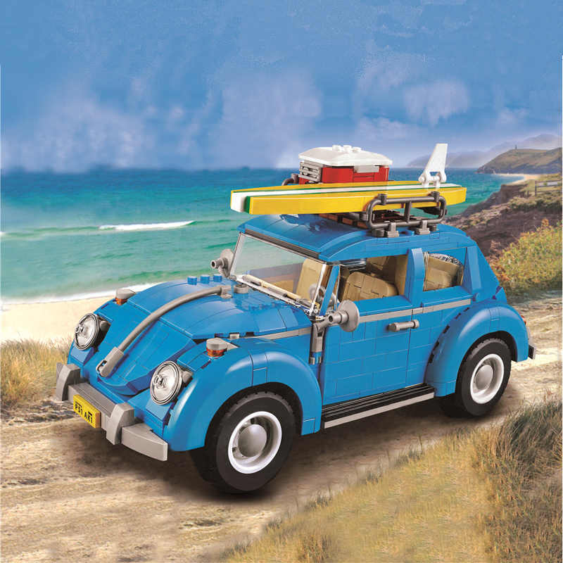 21003 City Car Beetle Classical Travel Model Building Blocks Bricks Compatible Technic Car Educational Toys Kid Gift LEPIN 10252 lepin 02012 city deepwater exploration vessel 60095 building blocks policeman toys children compatible with lego gift kid sets