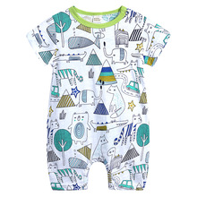 2019 Baby Romper Short Sleeve Organic Cotton Baby C