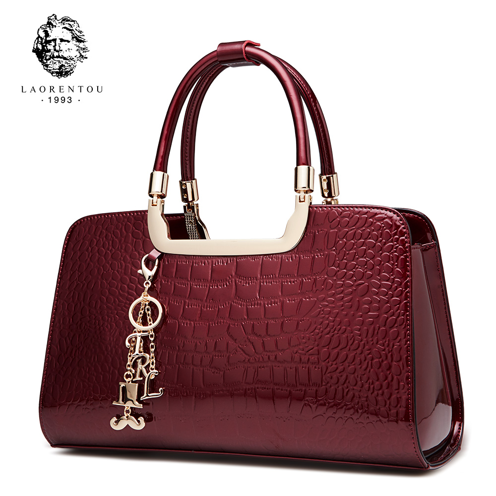 Laorentou Brand Women's Bags Shoulder Bag Women Handbag Luxury Shoulder Bag Women's Tote Patent Leather Handbags Female Bags