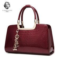 Laorentou Brand Women's Bags Shoulder Bag Women Handbag Luxury Shoulder Bag Women's Tote Patent Leather Handbags Female Bags цены