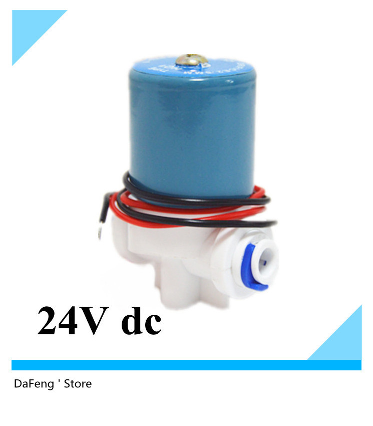 New Plastic Solenoid valve,24V dc for water,ID 6.35mm(1/4) Quick push in connect, big sale new rotation solenoid valve kwe5k 31 g24ya50 for excavator sk200 6e