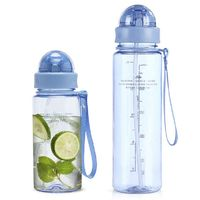 400ml 560ml 700ml Lovely My Water Bottle Shaker Creative Whey Protein Copo Com Canudo Lulu Lemon