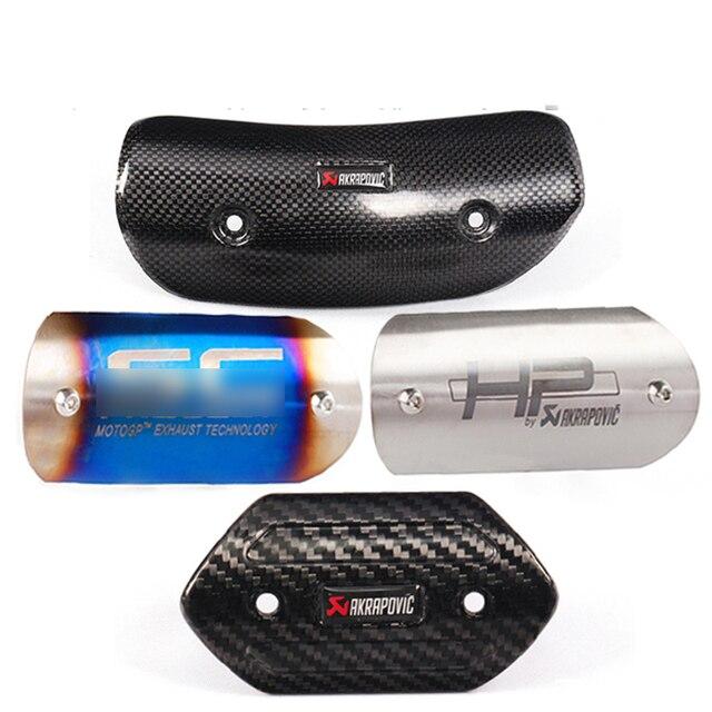 Moto Akrapovic projeto Silenciador Do Escape De Fibra De Carbono Protetor de Calor Escudo Tampa tampa Guarda Anti-scalding TMAX530 CB400