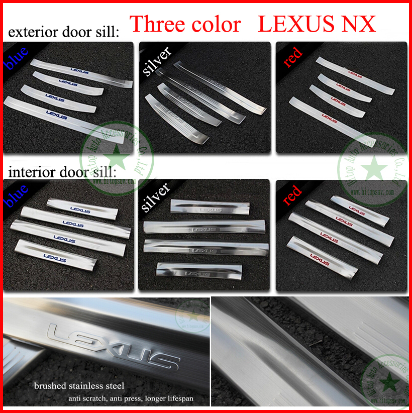 for Lexus NX 200T NX200T NX300h door sill scuff plate threshold protection sill,304 stainless steel,ISO9001 quality,three colors автоброня 111 03211 1 lexus nx 200t 2 0 2014