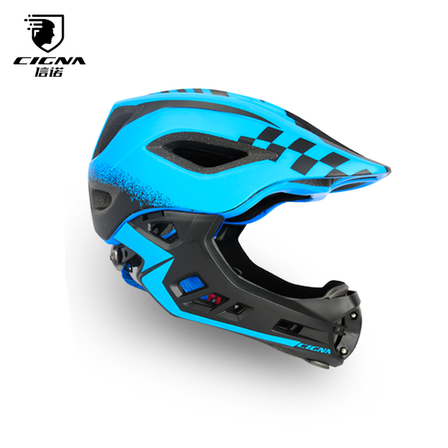 CIGNA Bike Full Covered Child Helmet Balance Cycling For Children Helmet  Motorcycle Bicycle Motocross MTV DH Safety Helmet 30eb0d67a