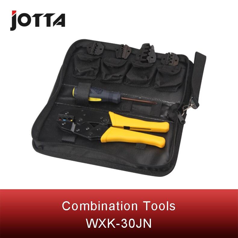 Купить с кэшбэком WXK-30JN mini combination tool including 1 piece terminal crimping plier four types of crimping module &S35WF
