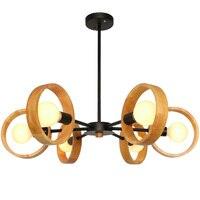 Современный простой macaron деревянный подвесной светильник для фойе, спальни, резиновая рама, осветительный прибор, черный, белый, металличес