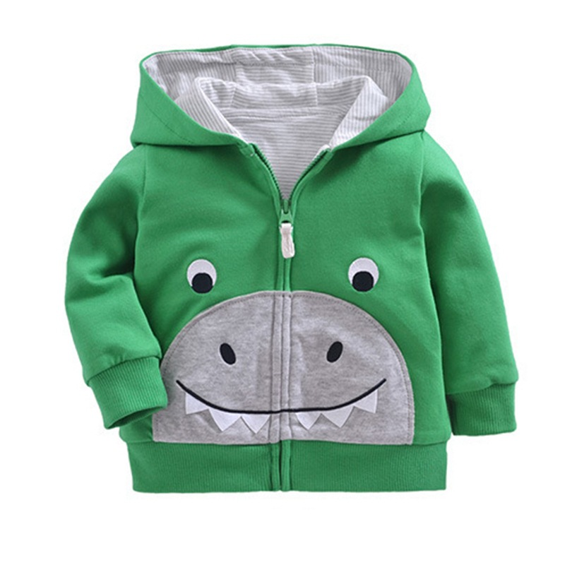Orangemom Offical Store New Born Baby Autumn Long Sleeved Clothing Boy Girls Cartoon Hooded Sweater Coat Cotton Outwear Clothes 1