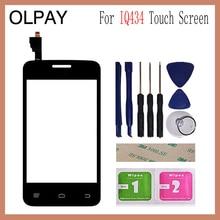 3.5 for for para fly iq434 iq 434 toque digitador da tela peças de reparo do painel touchscreen lente vidro frontal sensor