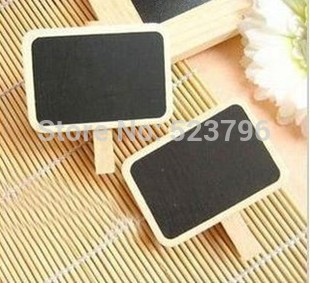 Free Shipping 30pcs Wooden Blackboard Clip Dining Table Clip Prize Message Board Preschool Wooden Clip