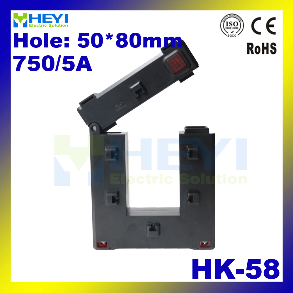 цена на one button clamp on current transformer HK-58 750/5A Class 0.5 split core window type current transformers