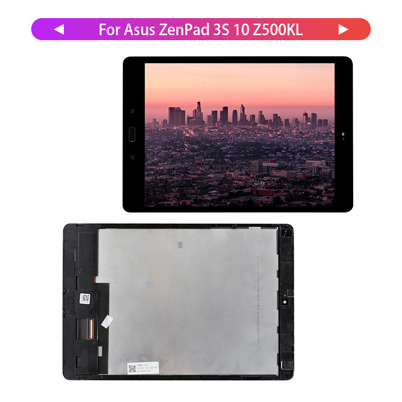 100% Tested For Asus ZenPad 3S 10 Z500KL Z10 ZT500KL P001 Touch Screen Digitizer LCD Display with Frame