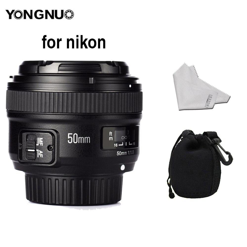 YONGNUO YN 50mm f/1.8 AF lentille Apertura YN50mm Messa A Fuoco Automatica Grande Apertura pour Nikon Dslr venez AF-S 50mm 1.8G