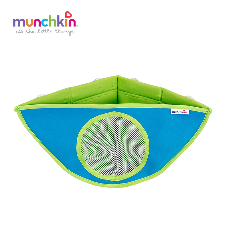 Munchkin Corner baby Bath Toys Organizer Colors Random Send Children Toy Bags With Suction Cup Hanging