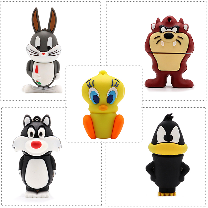 Looney Tunes USB stick cartoon bugs bunny pen drive 4GB 8GB 16GB 32GB 64G cute Daffy duck memory creative usb flash