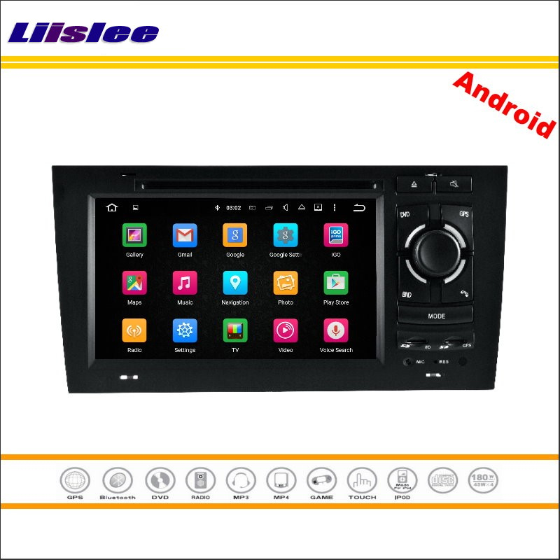 Liislee Car Android Multimedia For Audi A6 S6 RS6 1997~2004 Stereo Radio BT TV Wifi CD DVD Player GPS Map NAVI Navigation System
