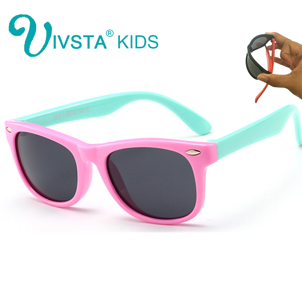 0d1975ed005 2018 Girls Sunglasses Kids Sun glasses Children Glasses Polarized Lenses  Boys TR90 Silicone UV400 Child Mirror ...