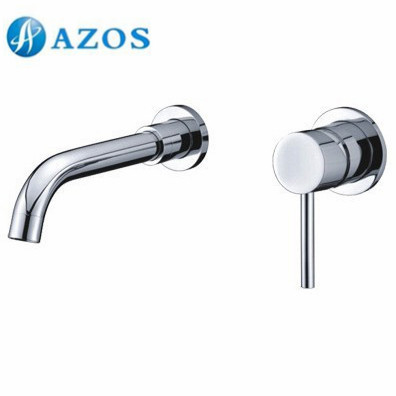 AZOS Bathroom Basin Tap 2 Holes Brass Chrome Polish Wall Mount Hot Cold Water Mixer Toilet Sink Faucet MPEK003 china sanitary ware chrome wall mount thermostatic water tap water saver thermostatic shower faucet