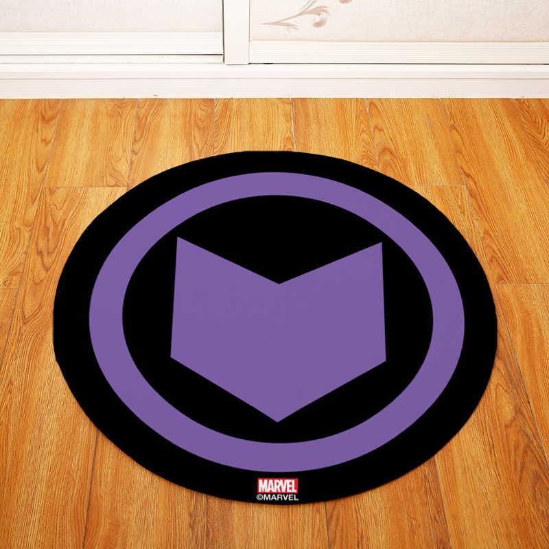 Высокое качество модные супергерой круглый стул/стол коврики гостиная спальня области ковры декоративные 80 см Диаметр