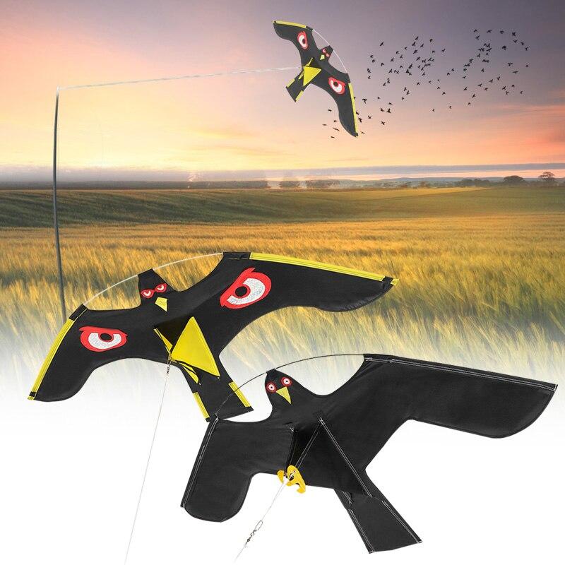 Emulation Fliegen Hawk Vogel Scarer Stick Vogel Kite Für Garten Scarecrow Yard Startseite