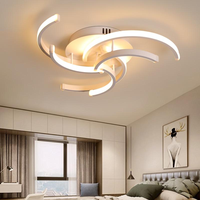 Lustre de plafond chambre à coucher, lustre de plafond en chambre à coucher lampe moderne à style moderne de plafond à lampe à LED pour la chambre à coucher