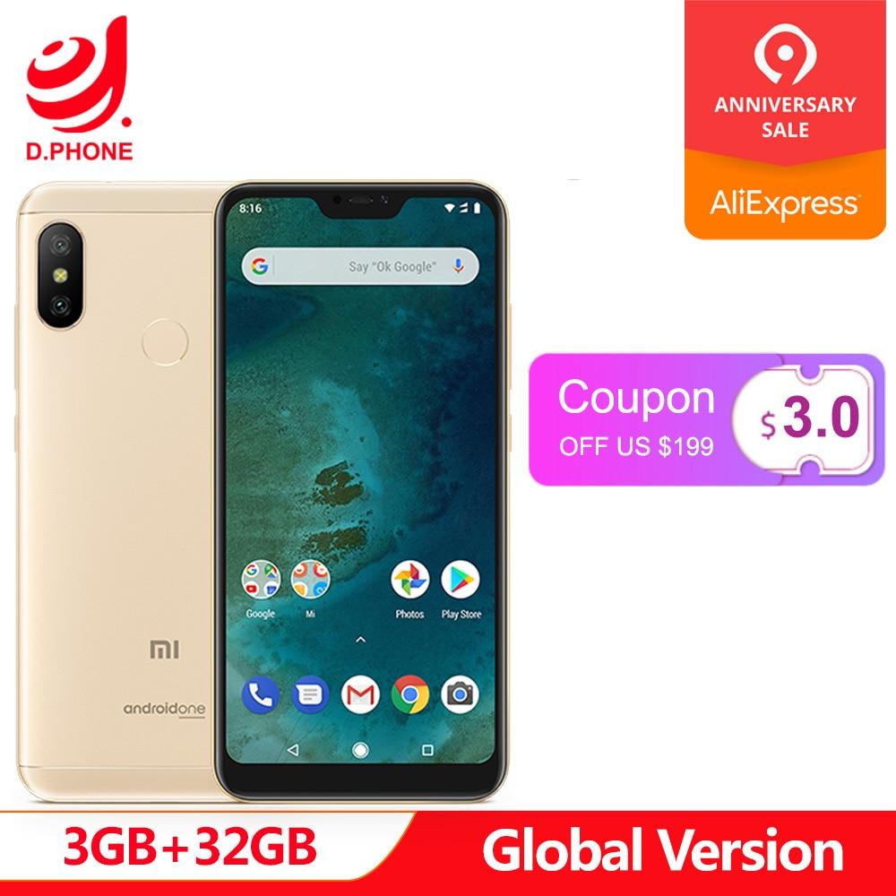 """In Magazzino Globale Versione Xiao mi mi A2 lite UN 2 3 gb 32 GB android UN Octa Core 5.84 """"19:9 Schermo Intero Dual AI Smartphone Fotocamera"""