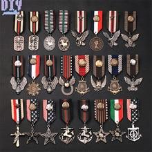 Англия пять звезд Орел лошадь военный металлический значок Ретро Фабри плечо доска армейские знаки различия булавка На брошь медаль ручной работы