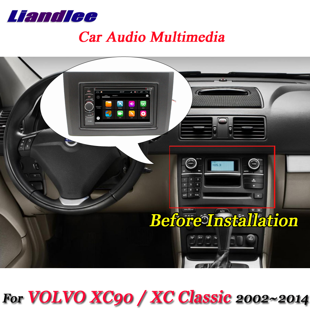 Liandlee Car Android 8.0 System For VOLVO <font><b>XC90</b></font> / XC Classic 2002~2014 Radio Frame GPS Navi MAP Navigation HD Screen Multimedia image