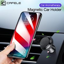 Cafele 360 Rotation Magnetic Car Phone Holder Aromatherapy Magnet Stand Aluminum Alloy Universal GPS Mobile