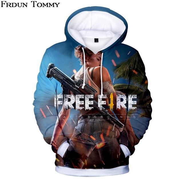 Frdun Tommy 3D Бесплатная толстовки Fire Толстовка повседневное хип хоп монолитным Outweaar с длинным рукавом зима Kpop одежда