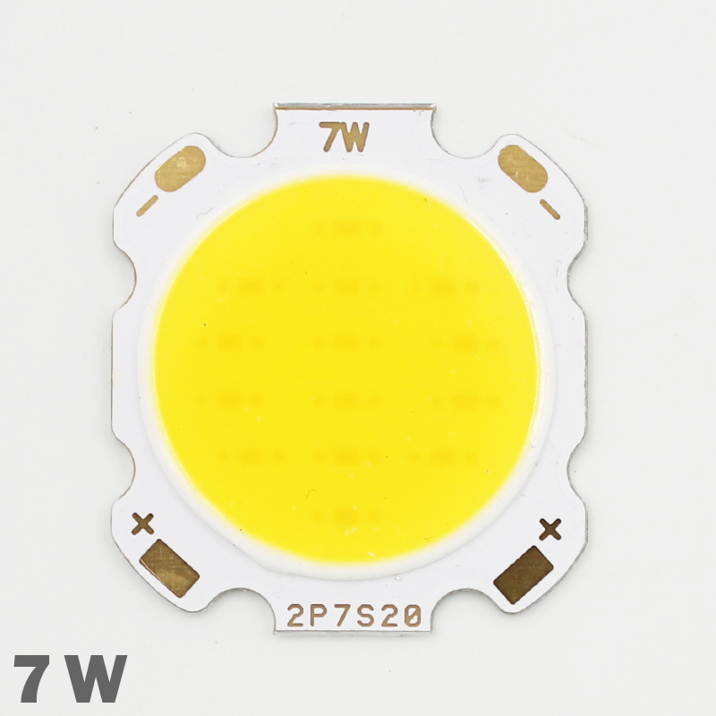 10pcs 7W COB Led Light Bulbs 420-450lm Chip Input DC21-25V Size 28mm-20mm Cold /Warm White Fit For DIY LED Flood/Spot Lights