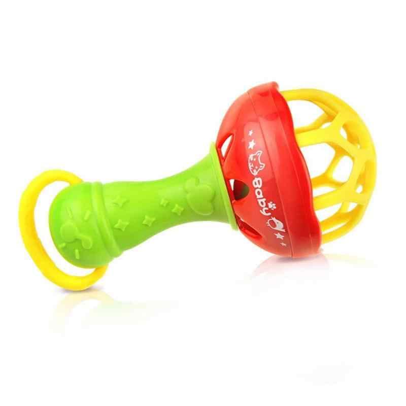 Nowonarodzone dziecko grzechotka wózek dla niemowląt szopka wiszące grzechotki z tworzywa sztucznego dla dzieci dzwonek grzechotka inteligencji dziecka chwyty gumy dzwon