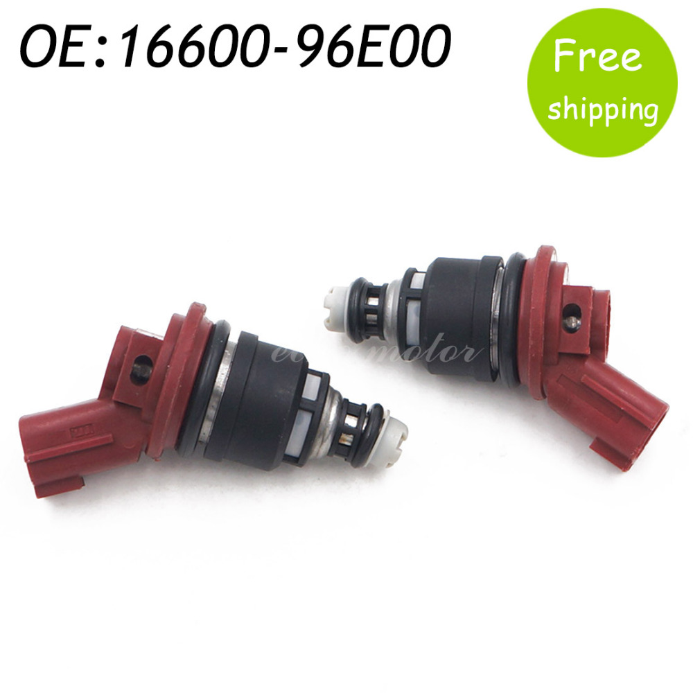New 2pcs 16600 96e00 1660096e00 Fuel Flow Injector For
