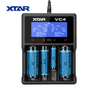 XTAR VC4 charger Universal LCD Screen Display USB Ni MH Li ion Battery 14500/16340/18650/22650/26650/32650 Battery Charger