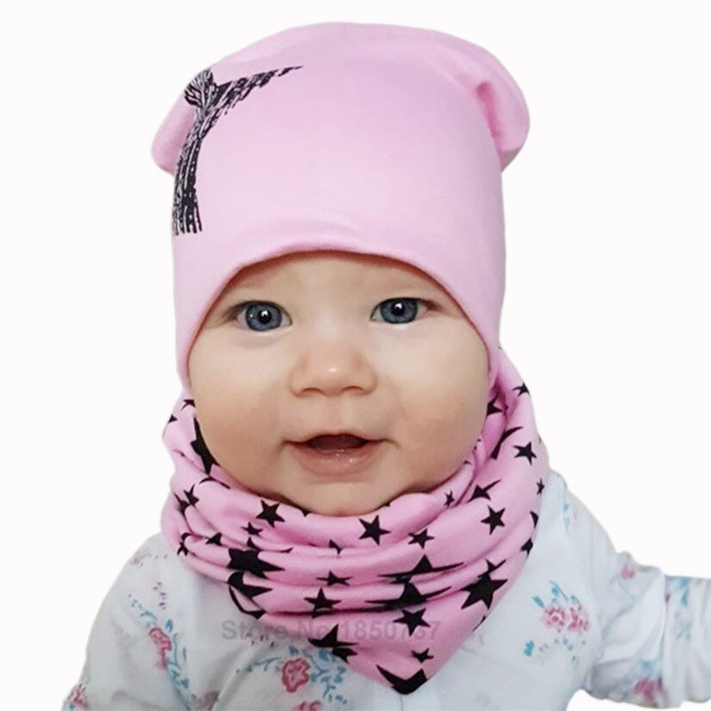 Pink star hats for baby girls