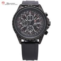 Sliteyeชายชุดของsharkนาฬิกาสปอร์ตสีดำกันน้ำสแตน