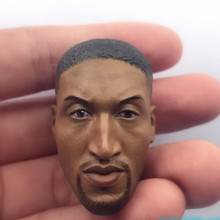 Custom 1/6 Scale Scottie Pippen Head Sculpt For Hot Toys Phicen JIAOUL Doll Body custom hugo weng head sculpt 1 6 red skull captain america f hot toy phicen doll