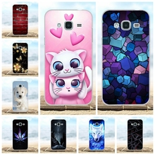 цена на For Samsung Galaxy J3 2016 Case Cover Soft Silicone Funda Coque Cute Bag Pattern For Case Samsung J3 2016 J320 J320F Phone Cases