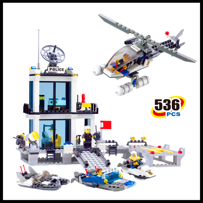 Lepin 536Pcs Building Blocks Toy Police Station DIY Assemble Figure Educational Brick Brinquedos For Children Compatible Legoe building blocks stick diy lepin toy plastic intelligence magic sticks toy creativity educational learningtoys for children gift