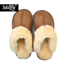 ee8ca90e0c414 Millffy NEW Sheepskin new home slippers man slipper summer fashion Korean  indoor air conditioning slippers(